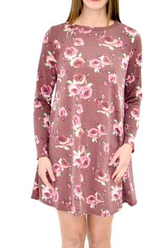 Shoptiques Product: Mauve Floral Dress