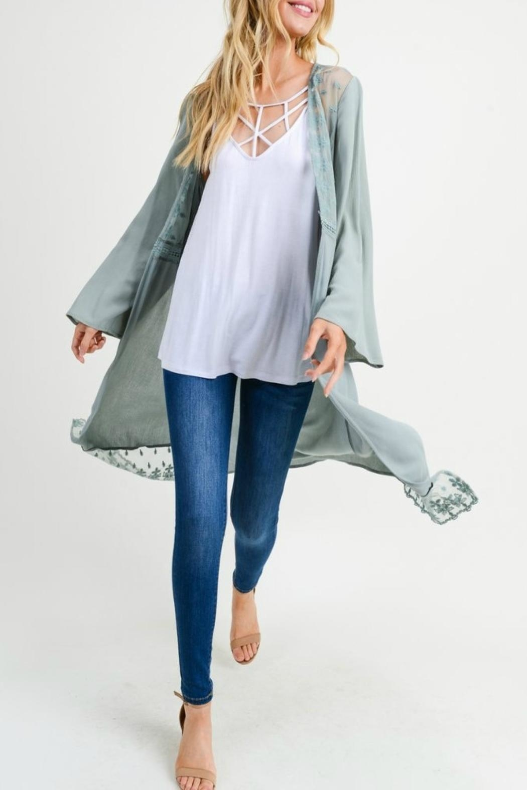 Jodifl Open-Front Lace Cardigan - Main Image