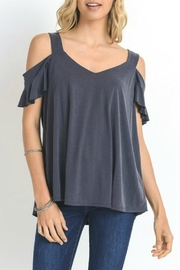 Jodifl Open-Shoulder Ruffle-Sleeve Top - Product Mini Image