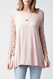 Jodifl Pink Crochet Top - Product Mini Image