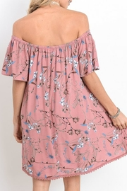 Jodifl Pink Floral Dress - Front full body