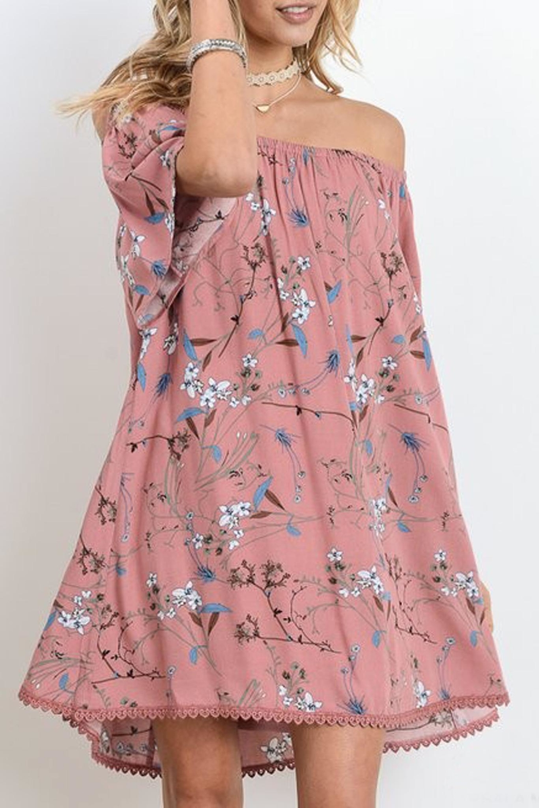 Jodifl Pink Floral Dress - Front Cropped Image