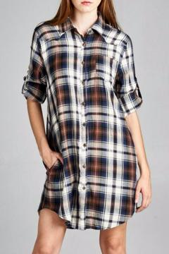 Jodifl Plaid Shirt Dress - Product List Image