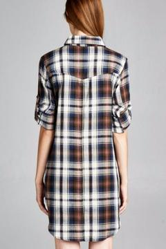 Jodifl Plaid Shirt Dress - Alternate List Image