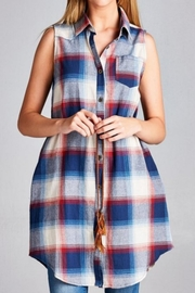 Jodifl Plaid Tunic Dress - Front cropped