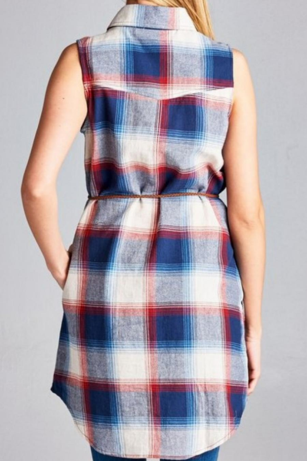 Jodifl Plaid Tunic Dress - Side Cropped Image