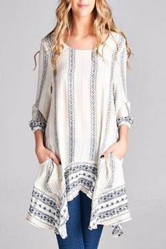 Shoptiques Product: Printed Striped Tunic