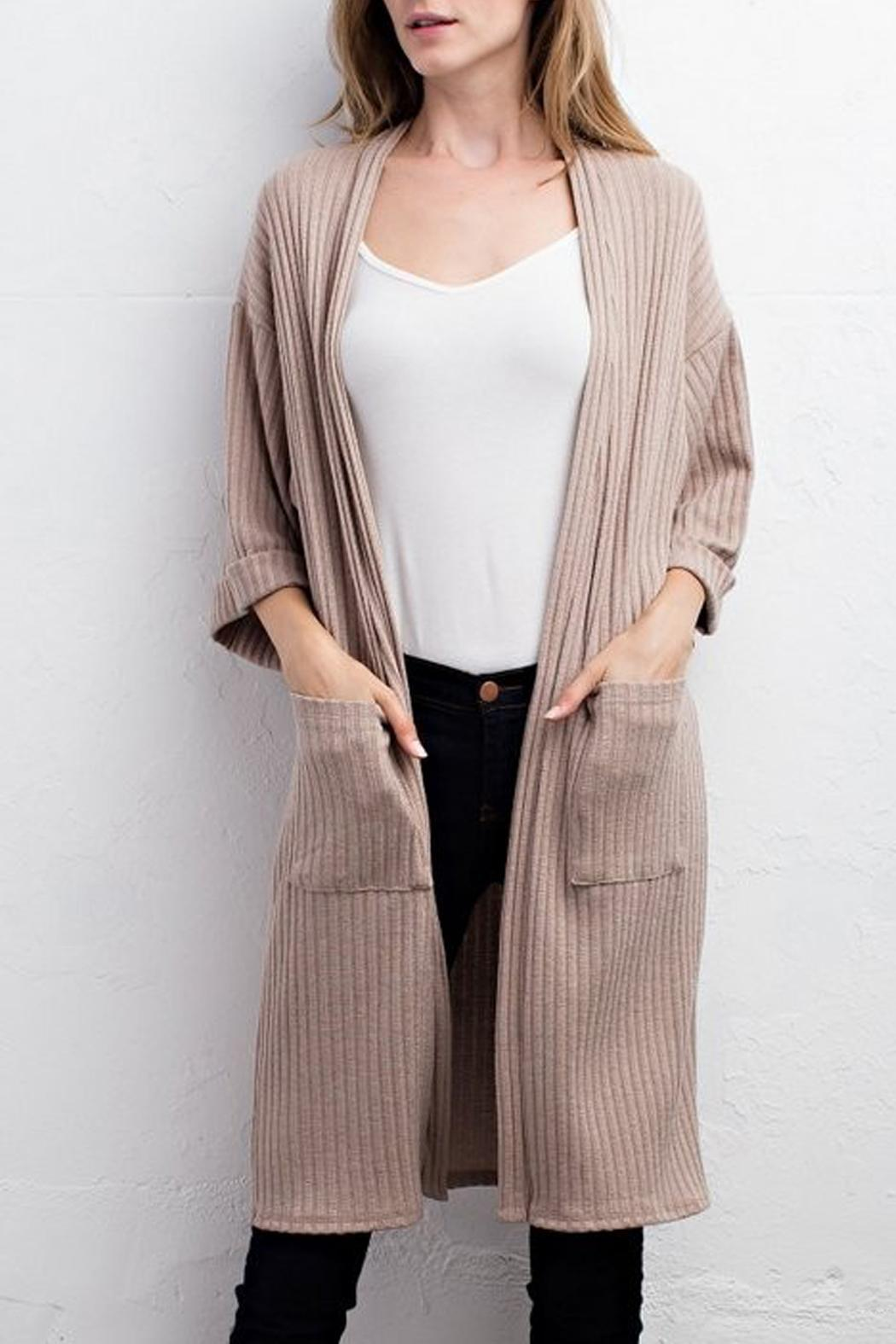 Jodifl Ribbed Cardigan - Front Cropped Image