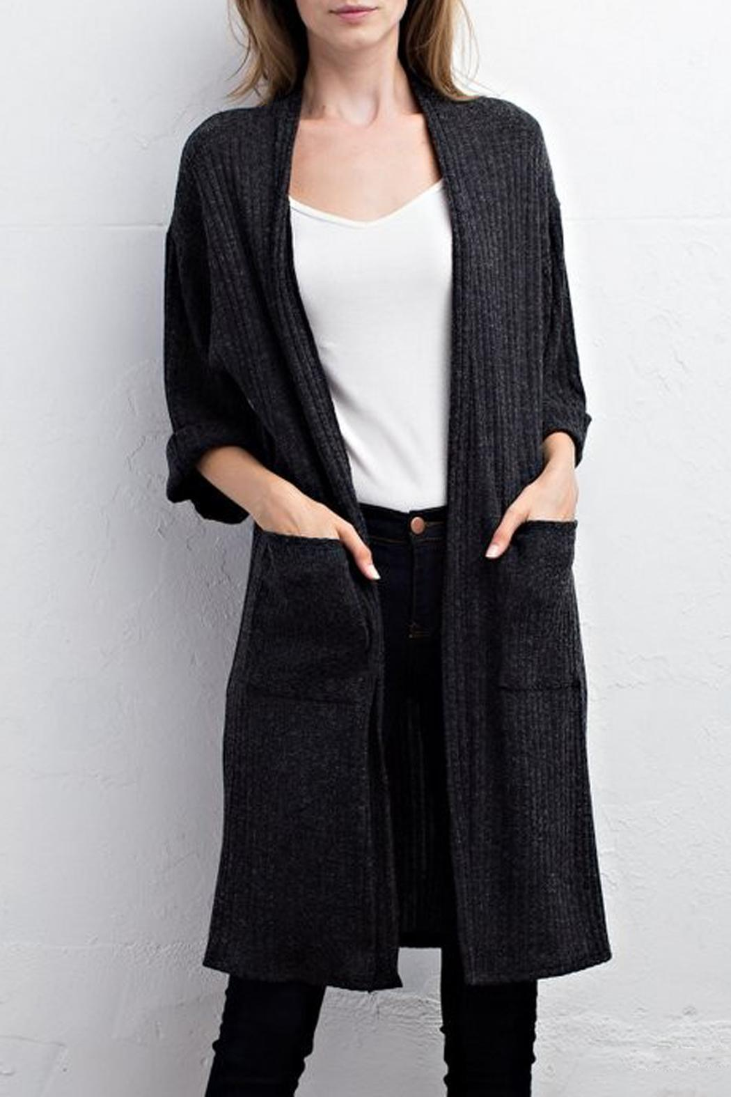 Jodifl Ribbed Cardigan - Main Image