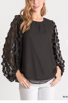 Jodifl Scalloped Sleeve Top - Product List Image