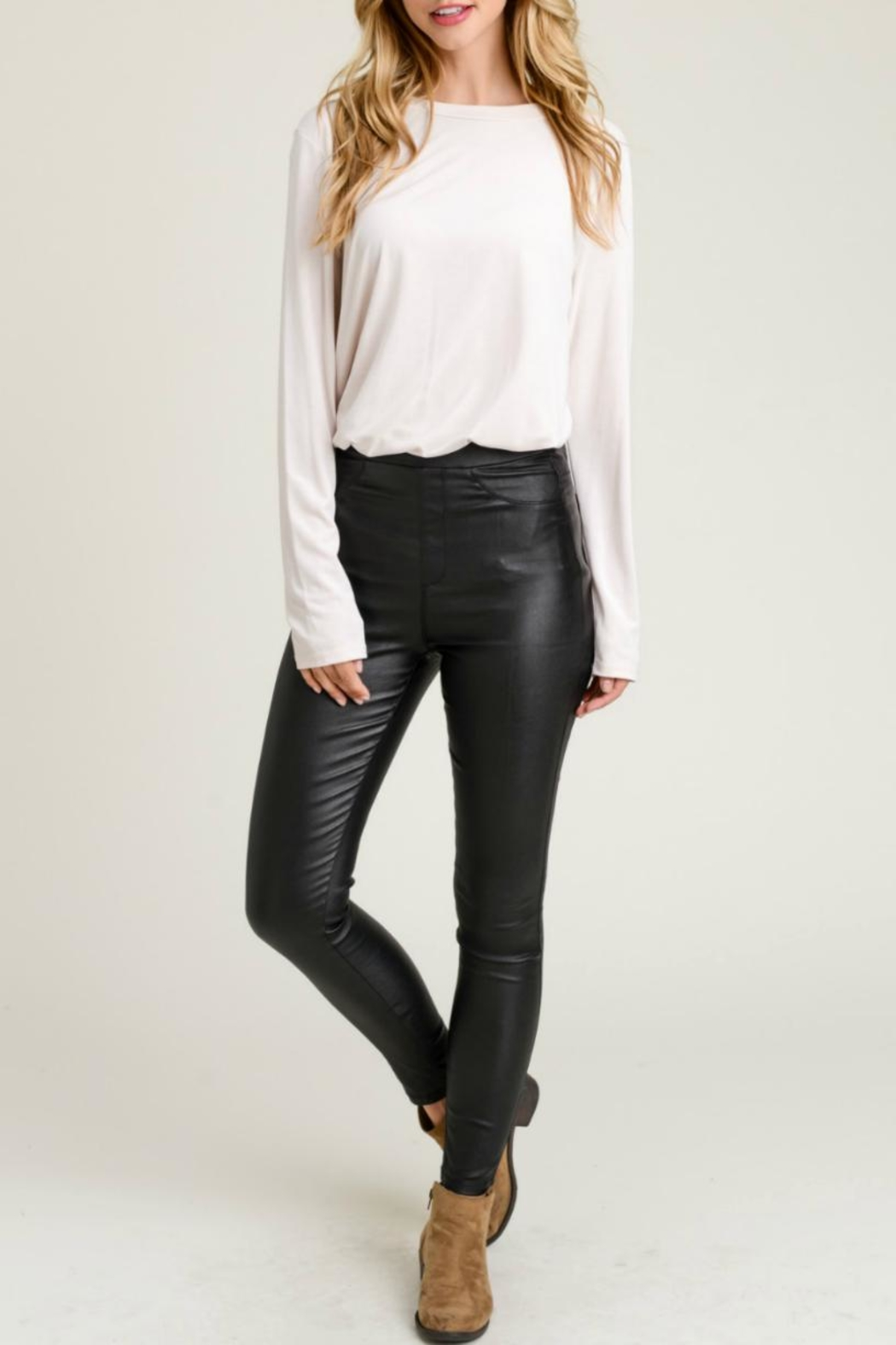 Jodifl Skinny Faux-Leather Leggings - Main Image