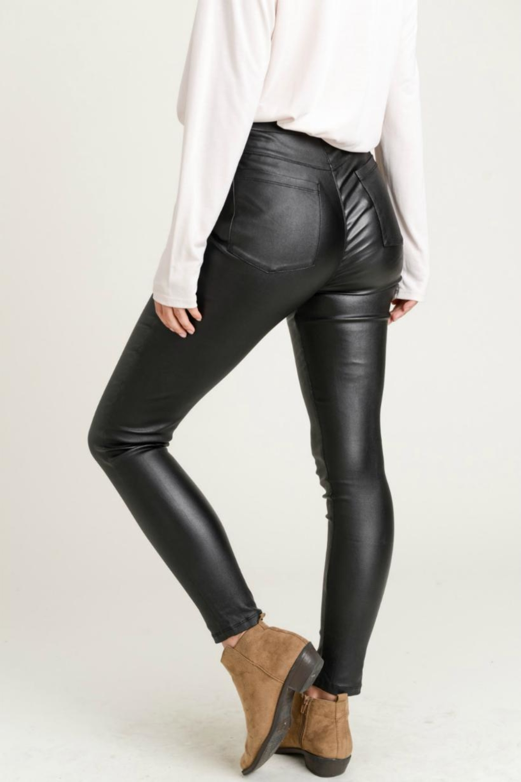 Jodifl Skinny Faux-Leather Leggings - Front Full Image