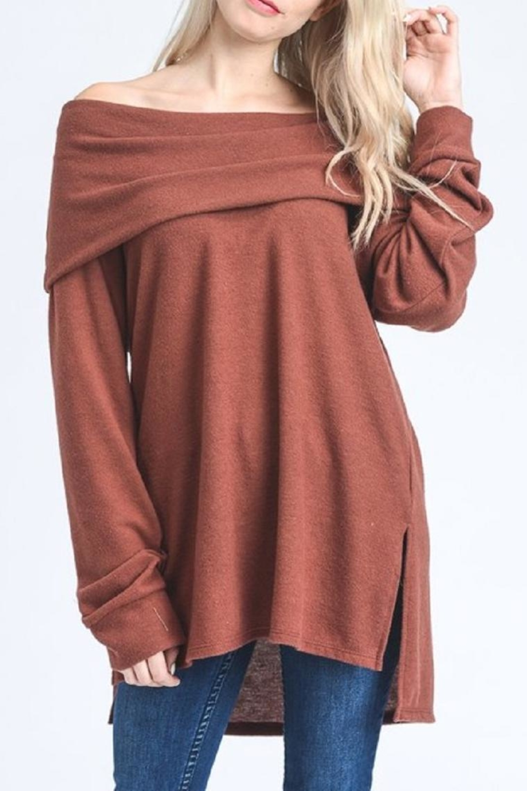 Jodifl Slouchy Off-Shoulder Sweater - Main Image