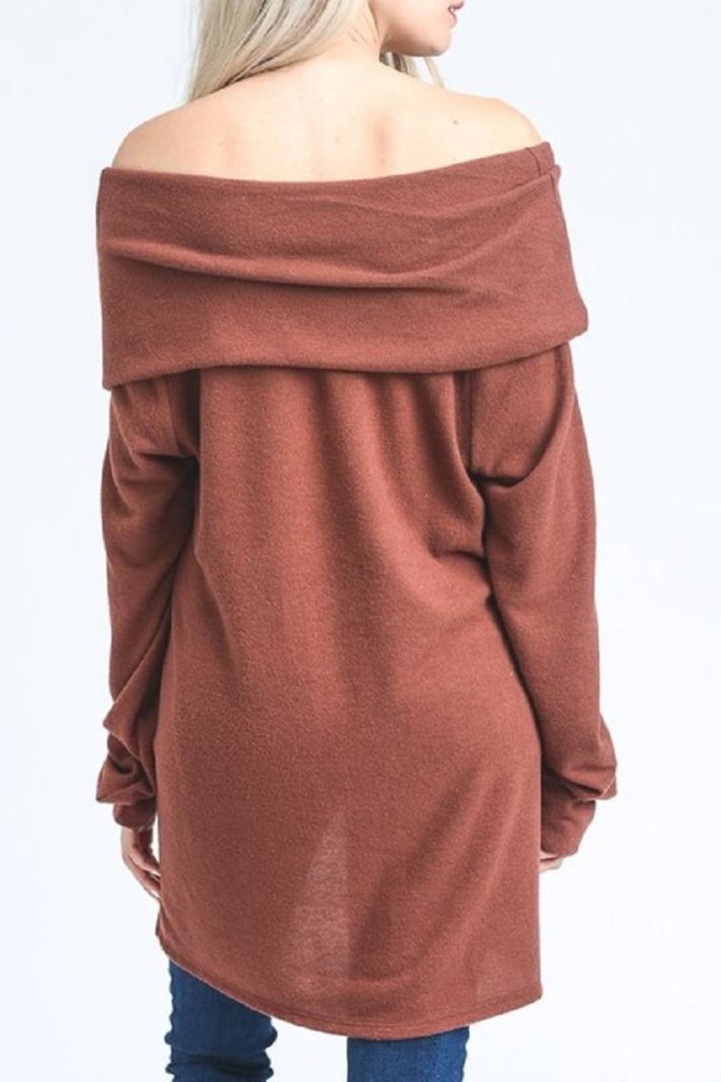 Jodifl Slouchy Off-Shoulder Sweater - Side Cropped Image