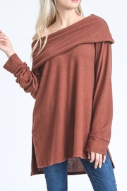 Jodifl Slouchy Off-Shoulder Sweater - Front full body
