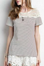 Jodifl Striped Lace Tee - Product Mini Image