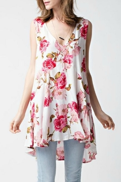 Shoptiques Product: V Neck Floral Tunic