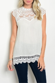 Jodifl White Crochet Top - Product Mini Image