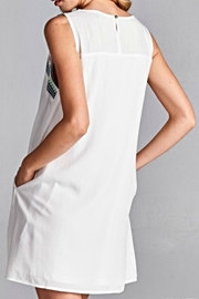 Jodifl White Embroidered Dress - Front full body