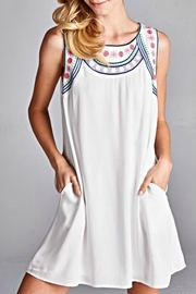 Jodifl White Embroidered Dress - Front cropped