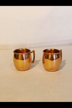 Jodpuri Brass Handle Copper Mugs - Alternate List Image