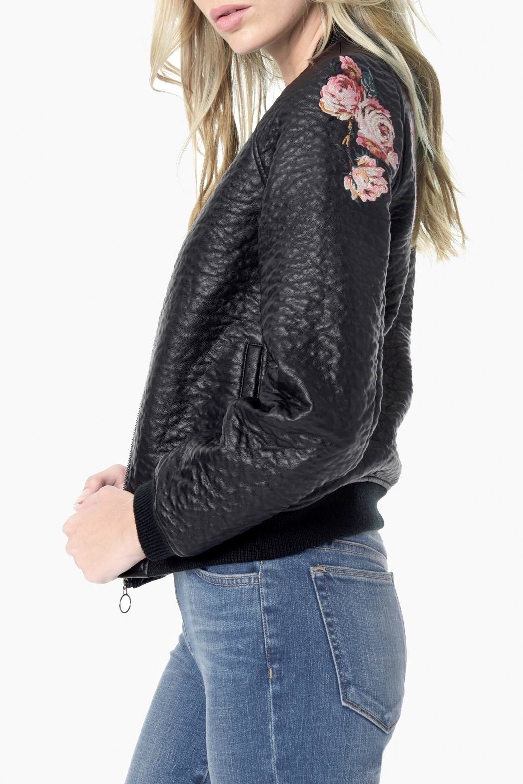 Joe's Jeans Embroidered Bomber Jacket - Front Full Image
