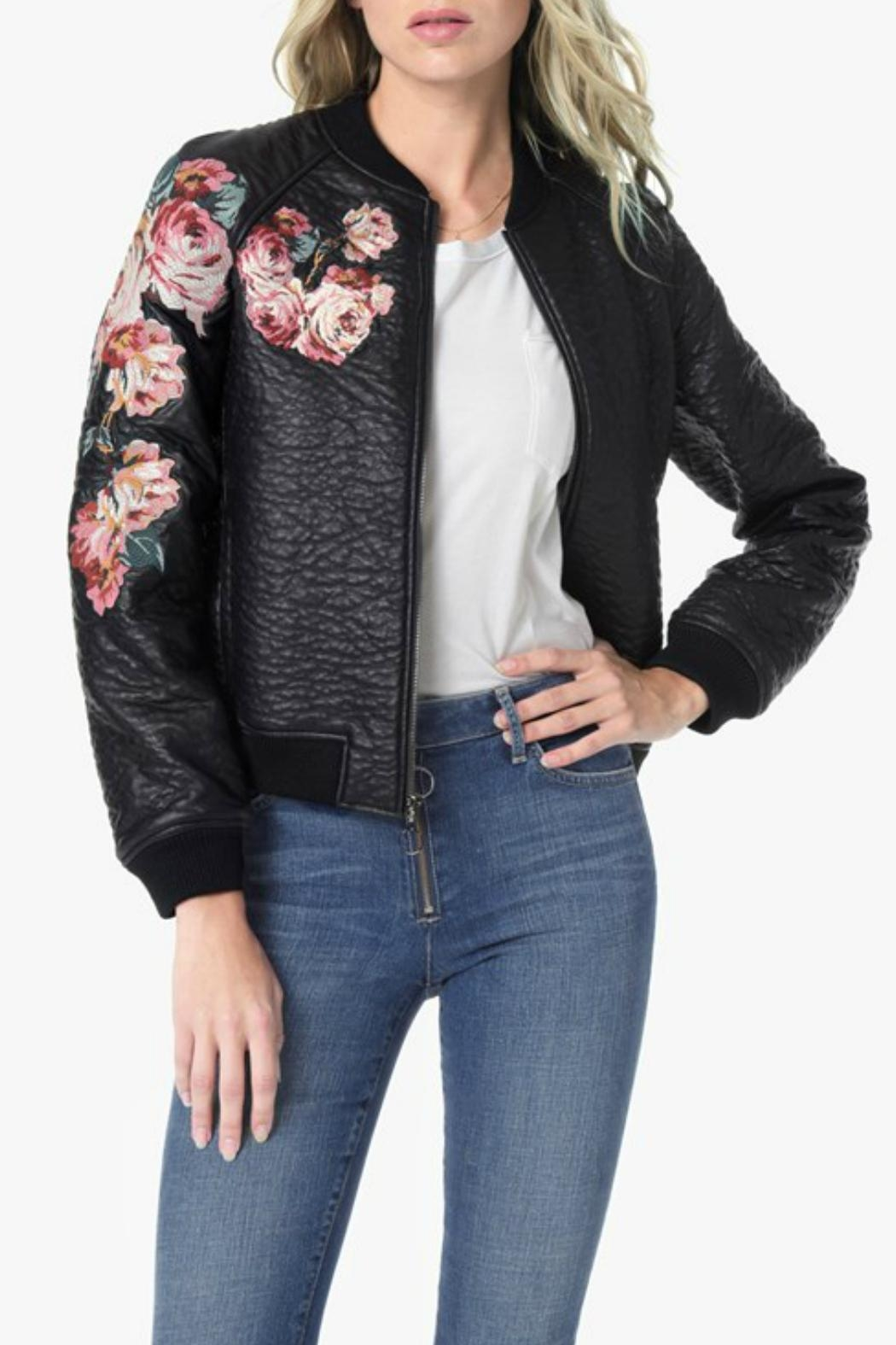 Joe's Jeans Embroidered Bomber Jacket - Front Cropped Image