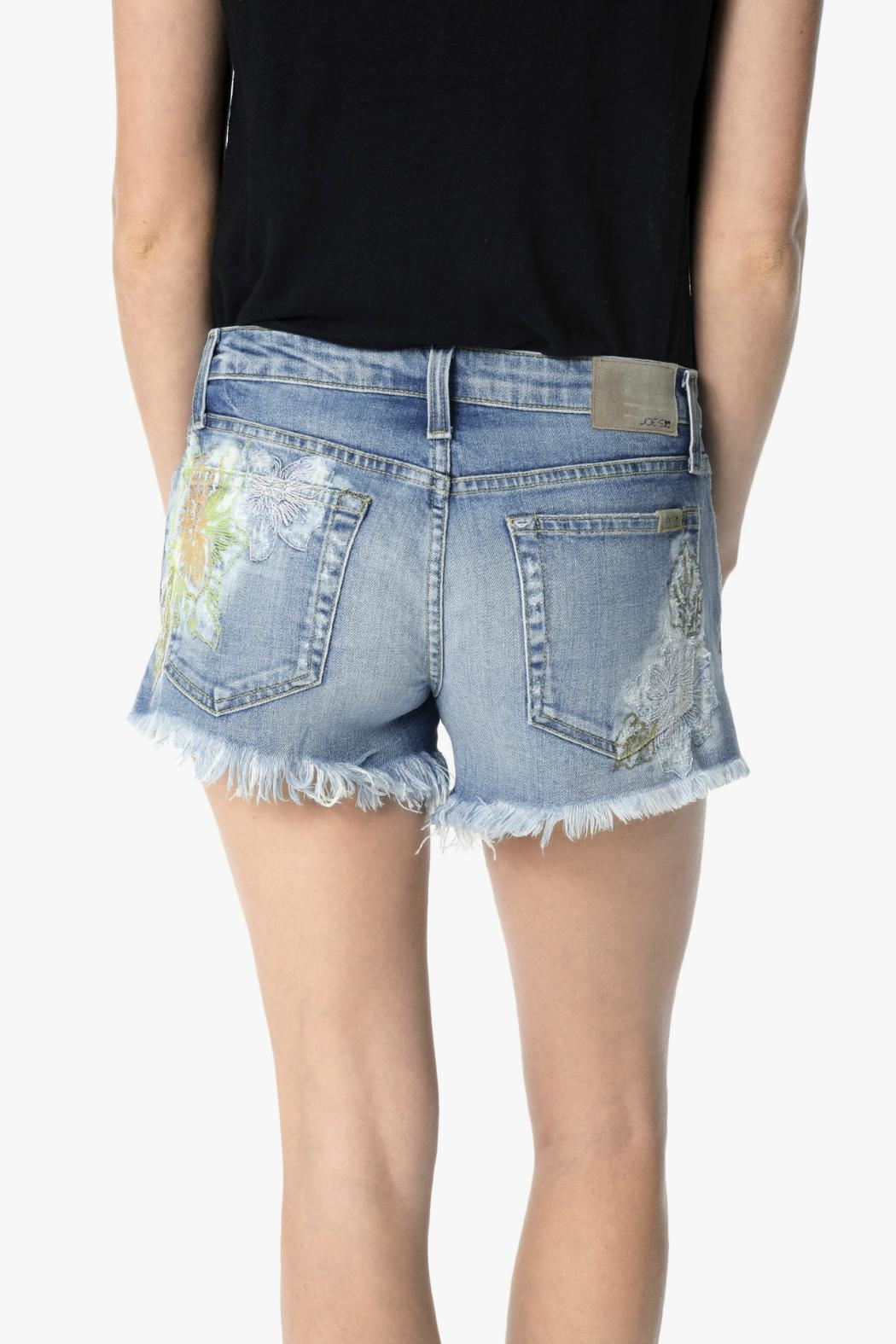 Joe's Jeans Embroidered Cut Off Shorts - Side Cropped Image
