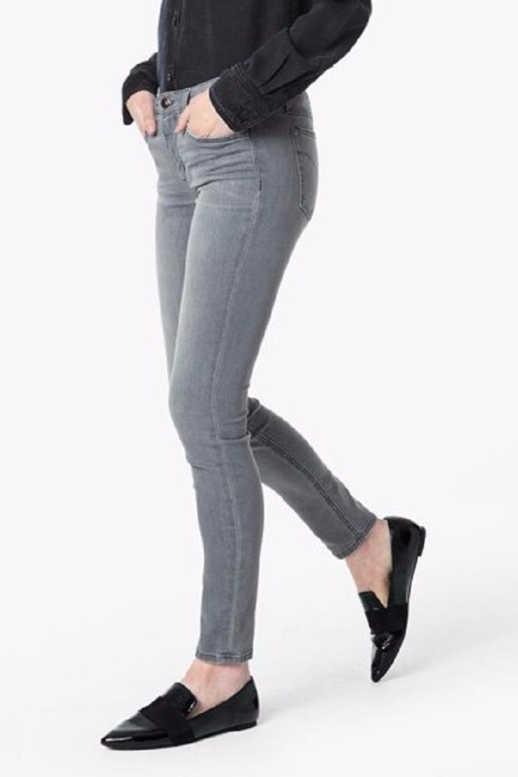 Joe's Jeans Grey Skinny Jean - Front Cropped Image