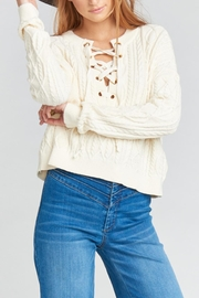 Show Me Your Mumu Joey Lace-Up Sweater - Front full body