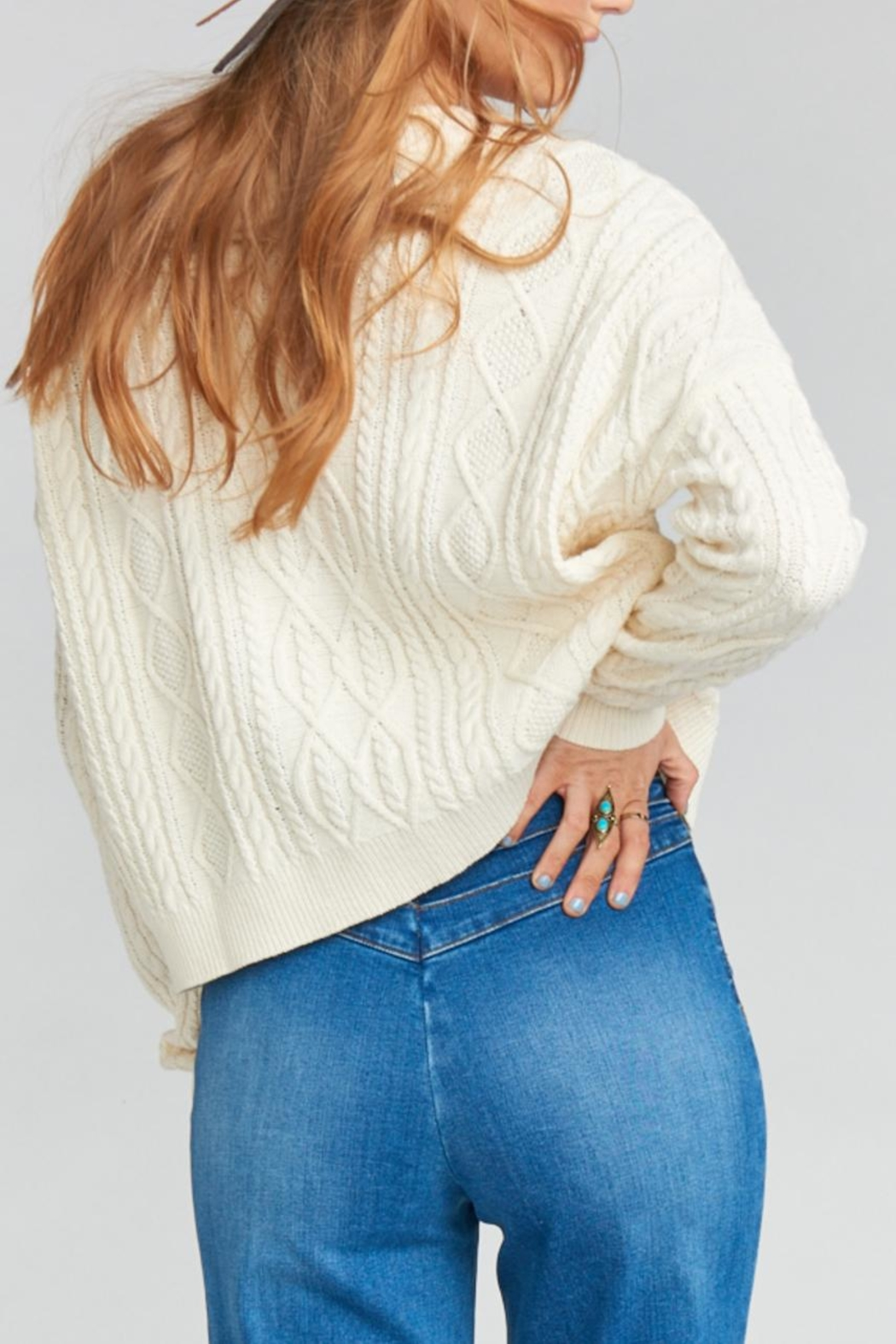 Show Me Your Mumu Joey Lace-Up Sweater - Side Cropped Image