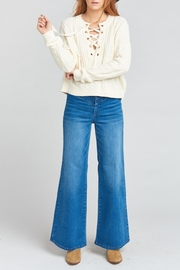 Show Me Your Mumu Joey Lace-Up Sweater - Back cropped
