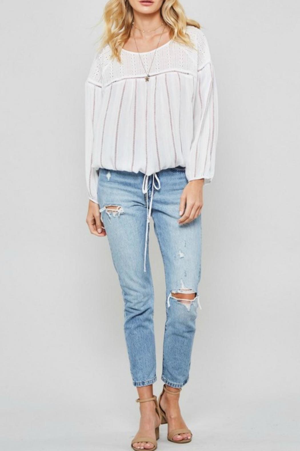 Promesa USA Joey Striped Top - Front Cropped Image