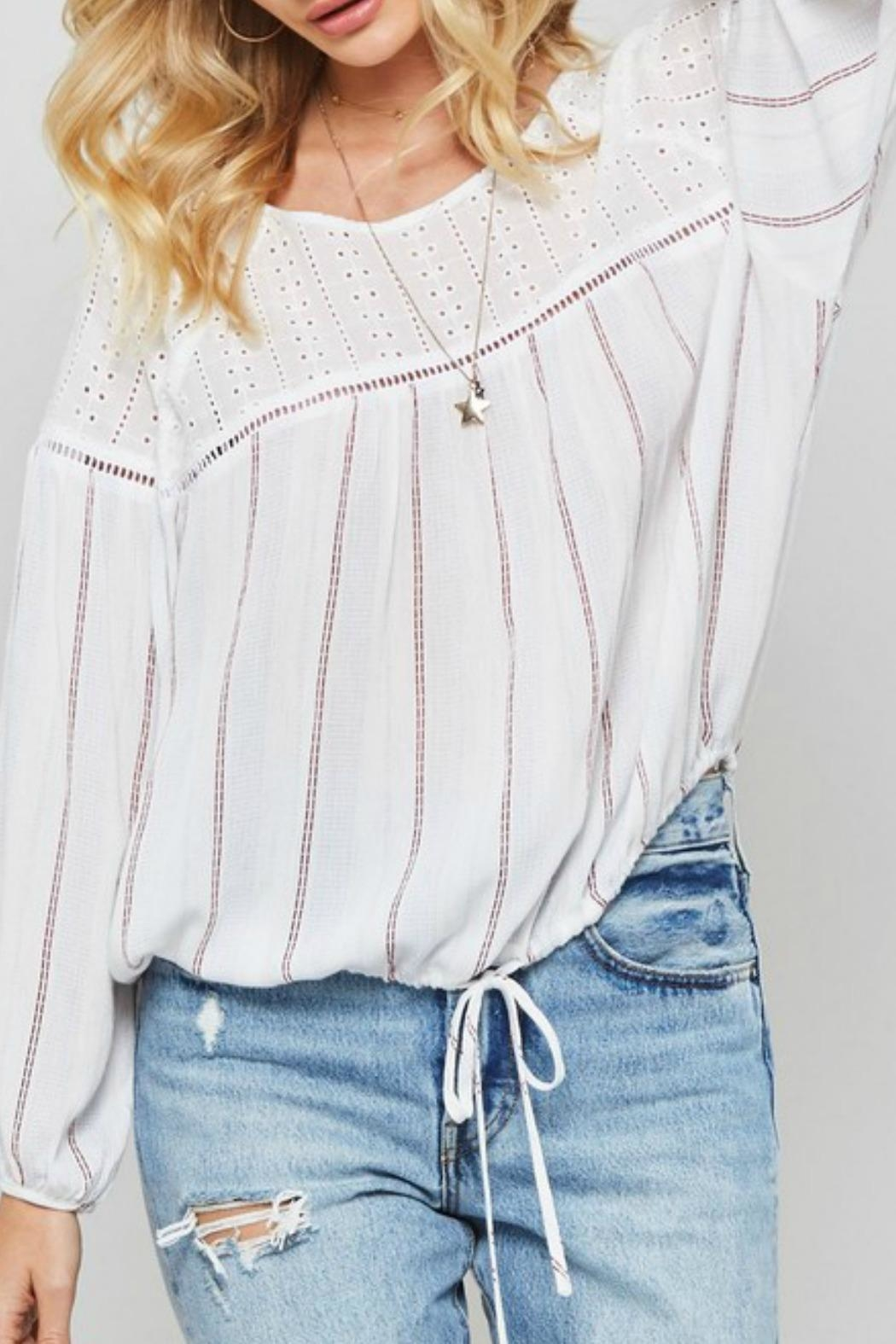 Promesa USA Joey Striped Top - Side Cropped Image