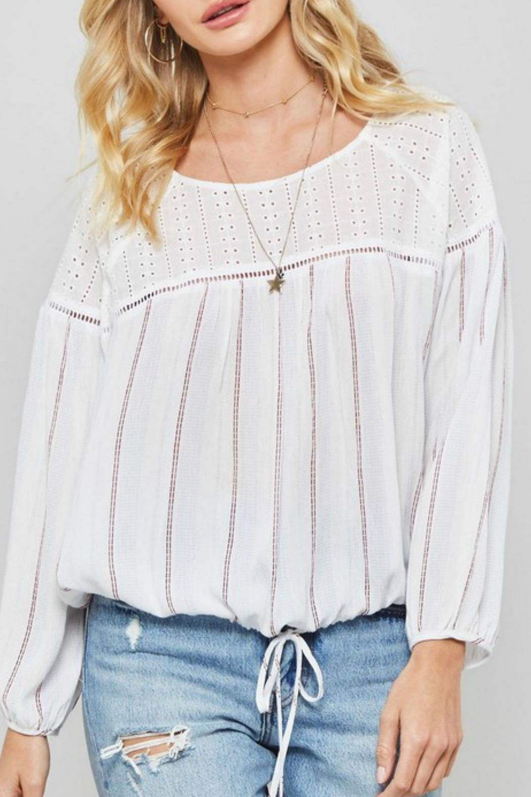 Promesa USA Joey Striped Top - Front Full Image