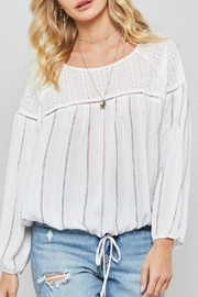Promesa USA Joey Striped Top - Front full body