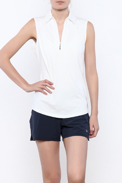 Shoptiques Product: Sleeveless Zipper Polo