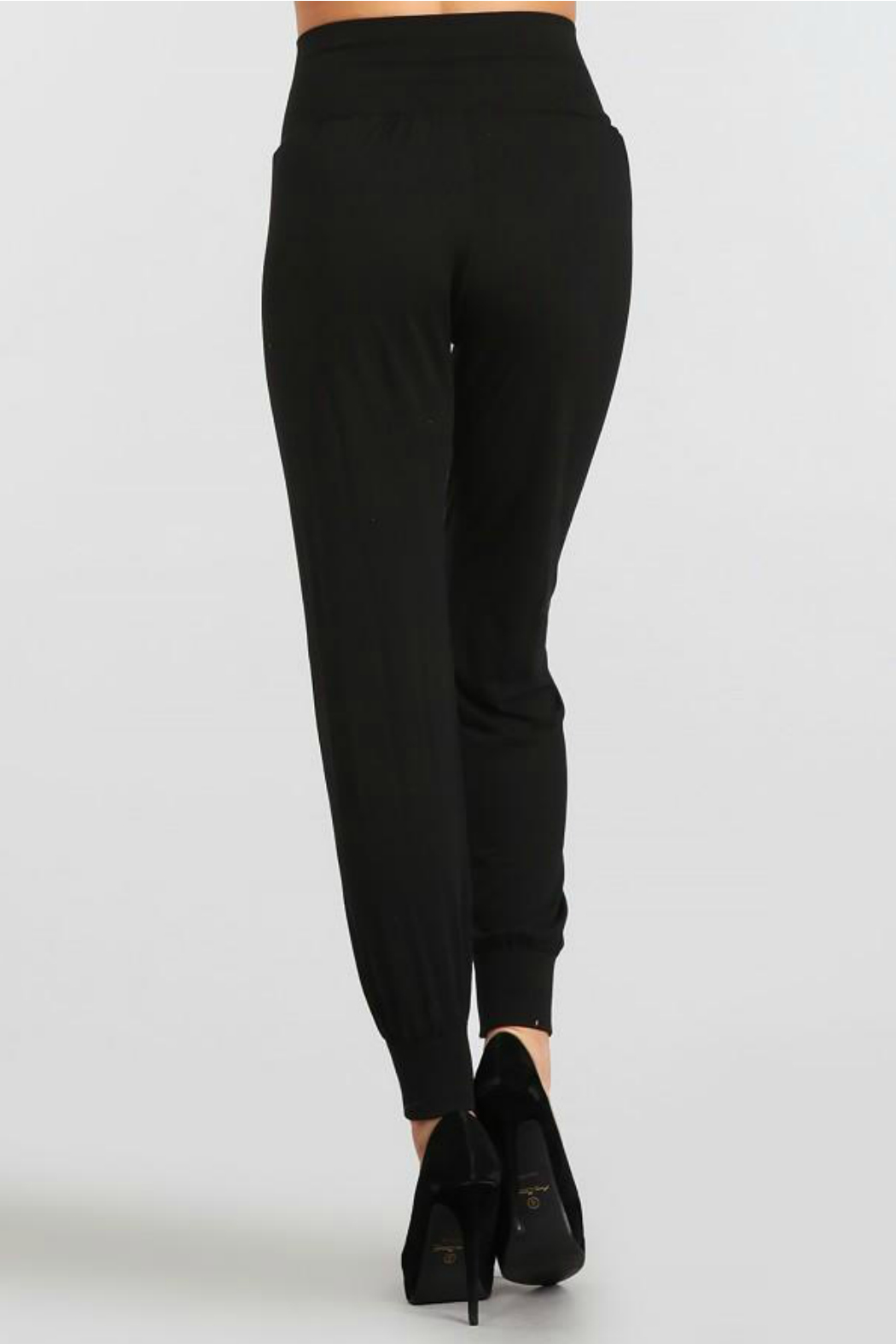 M.Rena Jogger pant with cuff rib - Front Full Image