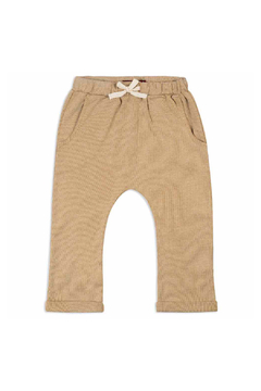 Shoptiques Product: Jogger Pants - Rust Pinstripe