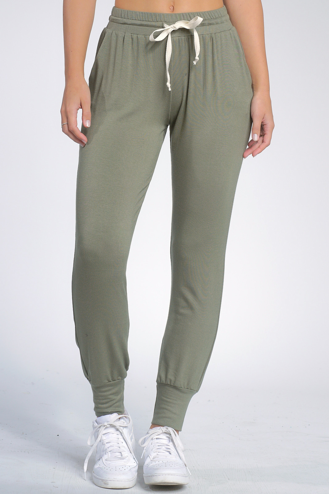 Elan  Jogger W/Tie Waist - Front Cropped Image