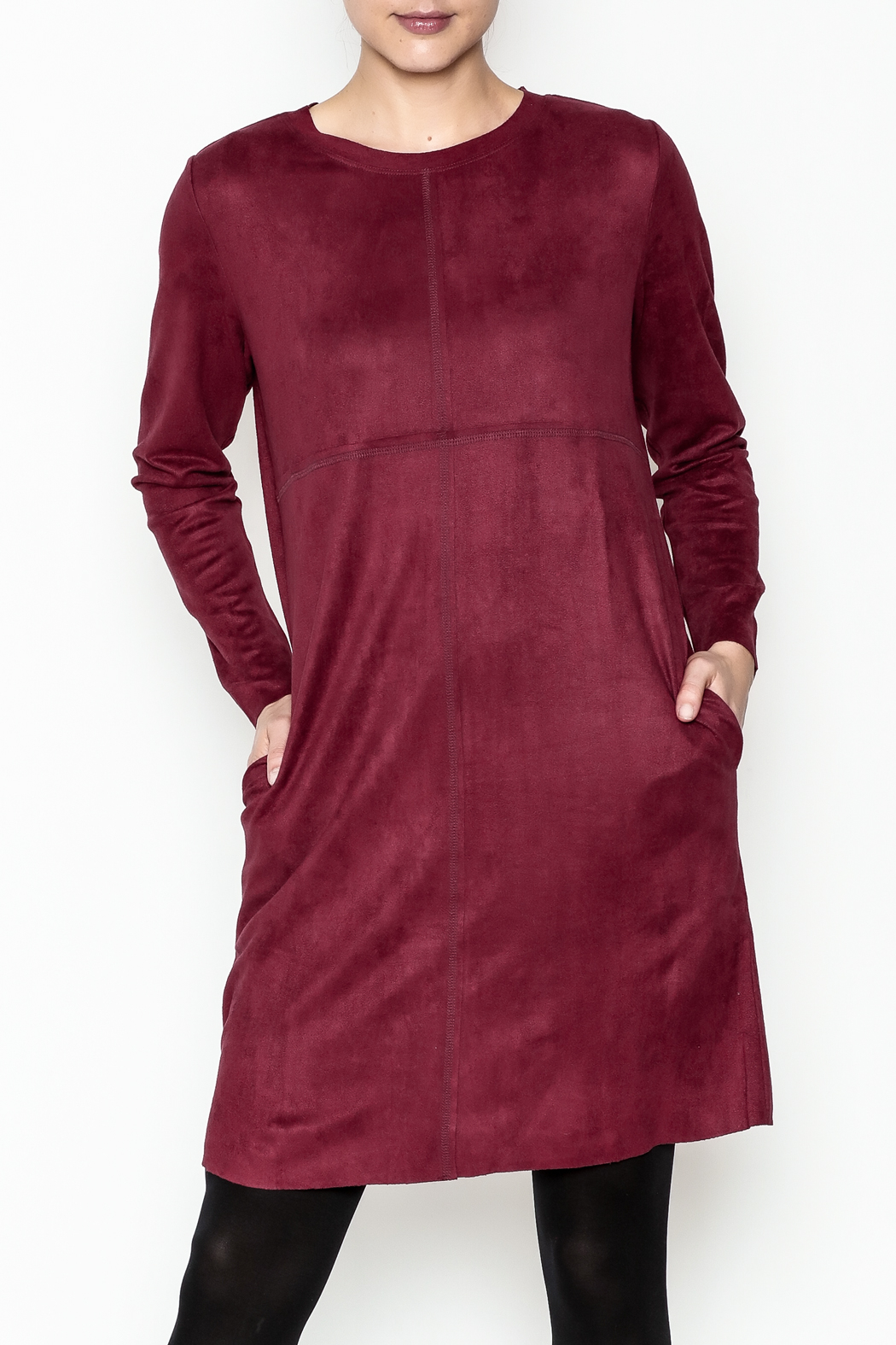 Joh Apparel Faux Suede Shift Dress - Front Cropped Image