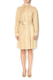 Joh Apparel Faux Suede Shirtdress - Front full body