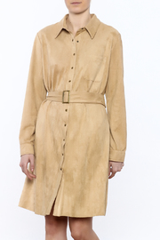 JOH Faux Suede Button-Down Dress - Product Mini Image