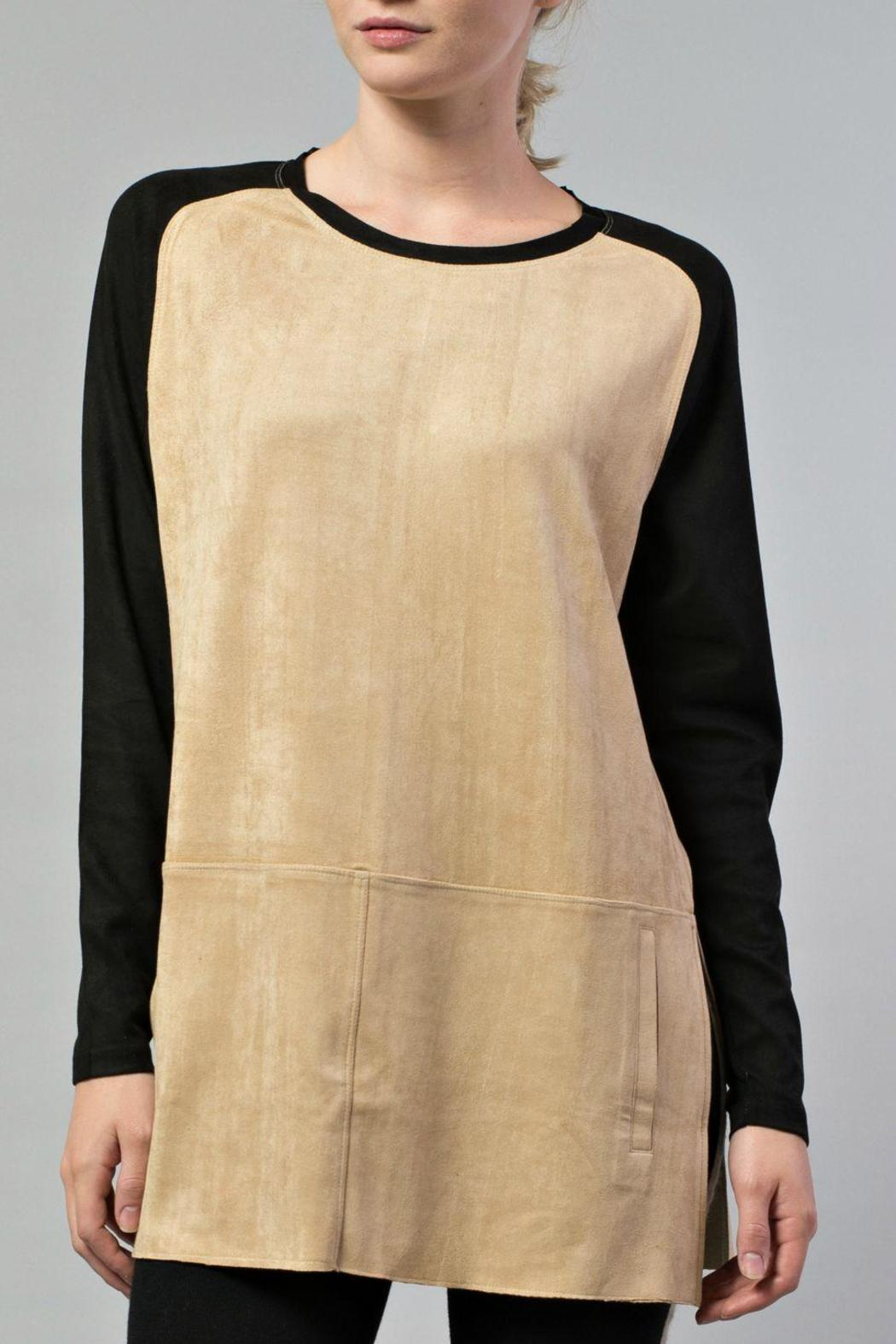 JOH Faux Suede Tunic - Front Full Image
