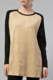 JOH Faux Suede Tunic - Front full body