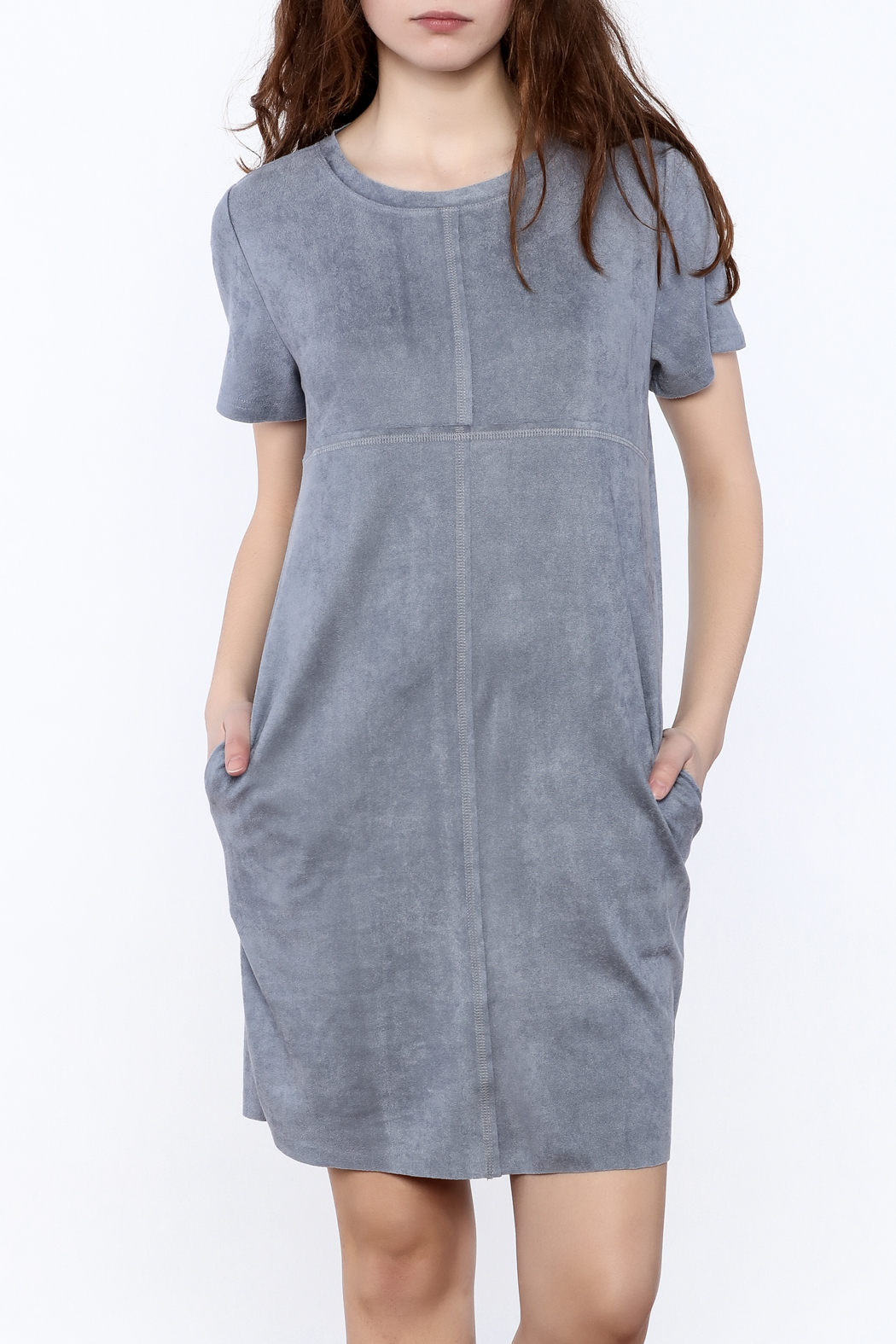 cc7b42a07e8 JOH Faux Suede Shift Dress from Wyckoff by Bedford Basket — Shoptiques