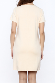 JOH Faux Suede Shift Dress - Back cropped