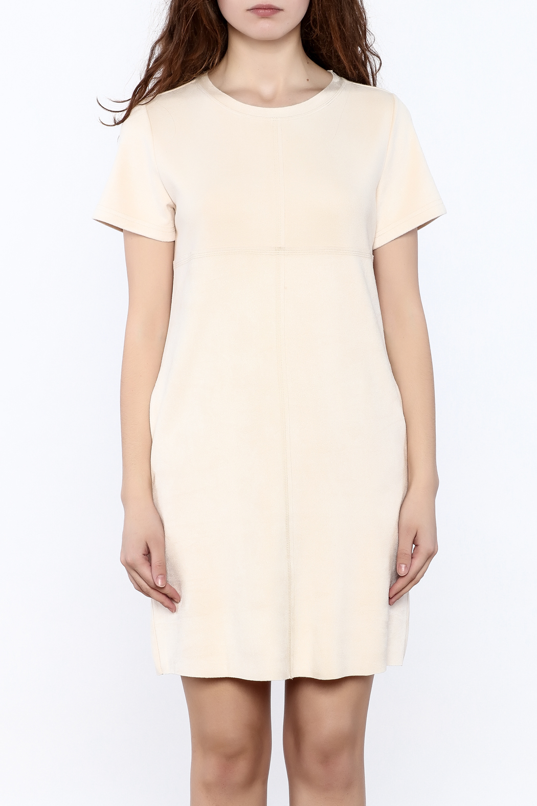 JOH Faux Suede Shift Dress - Side Cropped Image