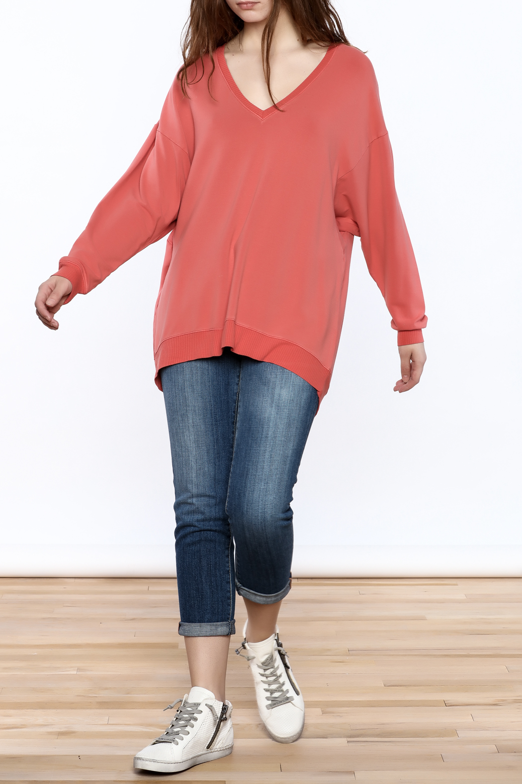 3ff042ec99e86 JOH Oversized Coral Sweatshirt from Wyckoff by Bedford Basket ...