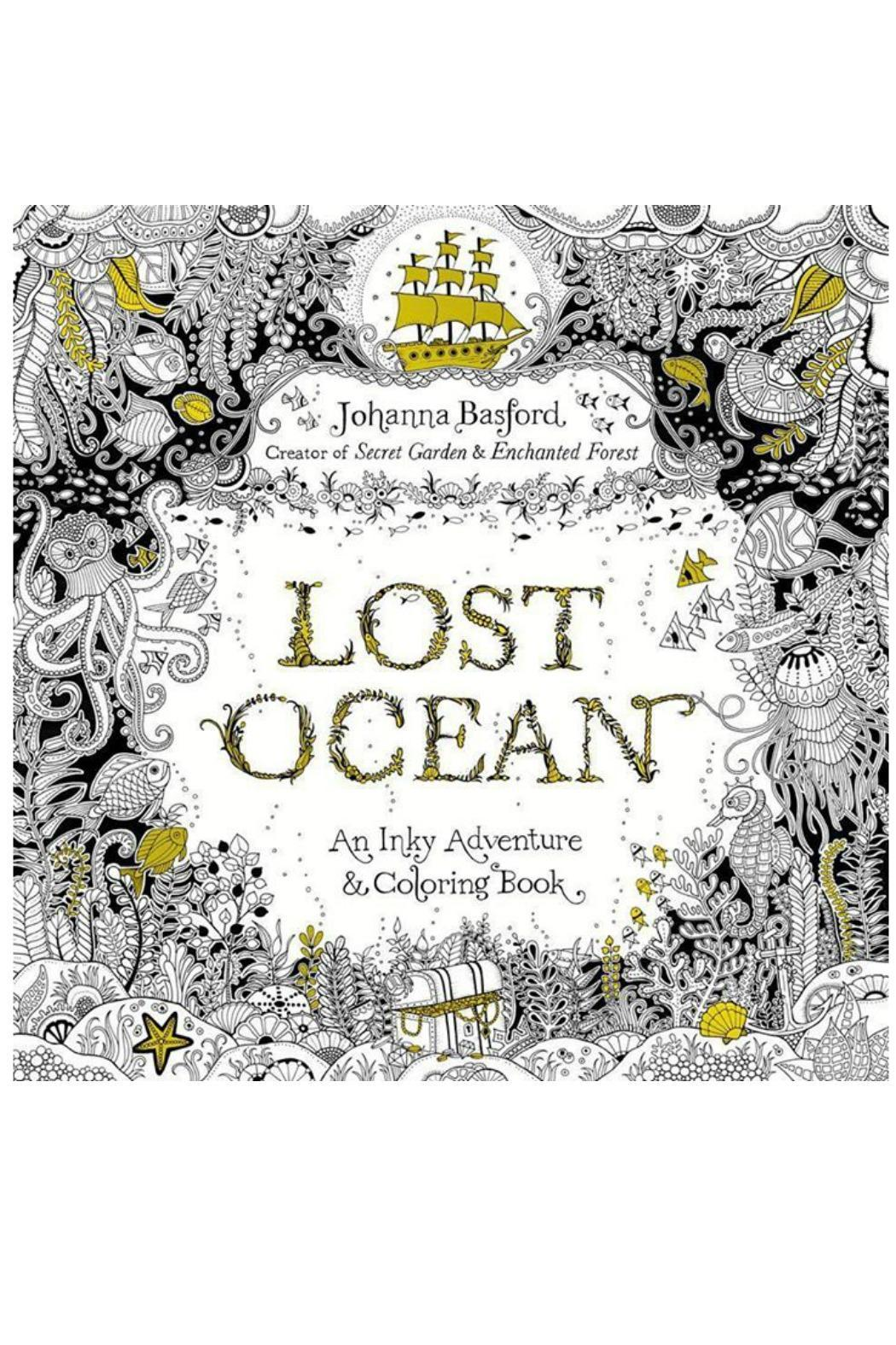 Johanna Basford Lost Ocean Coloring Book From Connecticut